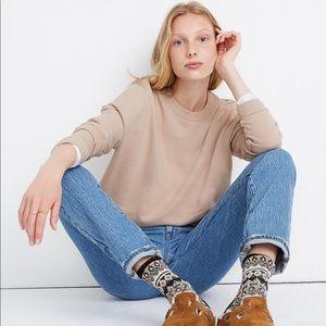 Madewell Recycled Cotton Oversized Sweatshirt
